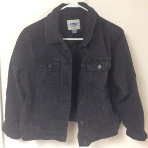 Faded black Old Navy denim jacket, size large